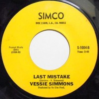 VESSIE SIMMONS / LAST MISTAKE / LET ME BE THE OTHER WOMAN