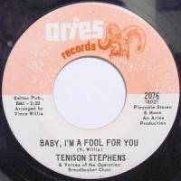 7 / TENISON STEPHENS / BABY, I'M A FOOL FOR YOU / HURRY CHANGE (IF YOU'RE COMING)