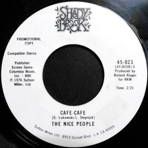 7 / THE NICE PEOPLE / CAFE-CAFE / (DISCO VERSION)
