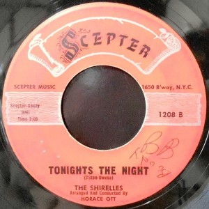7 / THE SHIRELLES / TONIGHTS THE NIGHT / THE DANCE IS OVER