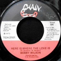 7 / BOBBY WILSON / HERE IS WHERE THE LOVE IS / ANYTHING (THAT YOU WANT)