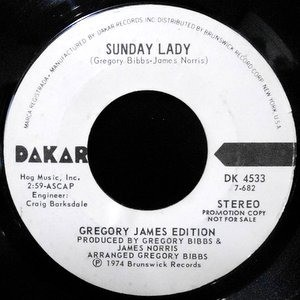 7 / GREGORY JAMES EDITION / SUNDAY LADY