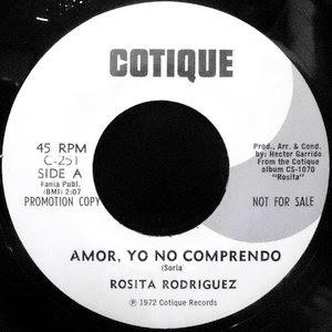 7 / ROSITA RODRIGUEZ / AMOR, YO NO COMPRENDO / YO, TU AMANTE