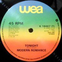 12 / MODERN ROMANCE / TONIGHT / FEVER / LA ROCCA