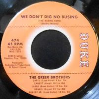 7 / THE GREER BROTHERS / WE DON'T DIG NO BUSING / LET ME STAY A PART OF YOU