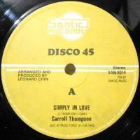 12 / CARROLL THOMPSON / SIMPLY IN LOVE