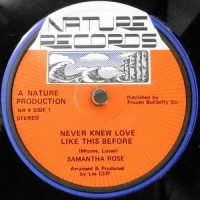 12 / SAMANTHA ROSE / NEVER KNEW LOVE LIKE THIS BEFORE