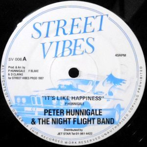 12 / PETER HUNNIGALE & THE NIGHT FLIGHT BAND / IT'S LIKE HAPPINESS / HAPPINESS STYLE