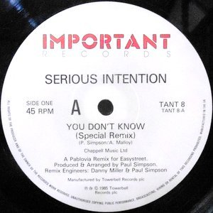 12 / SERIOUS INTENTION / YOU DON'T KNOW (SPECIAL REMIX)