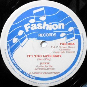 12 / JACKIE / IT'S TOO LATE BABY