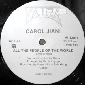 12 / CAROL JIANI / HIT'N RUN LOVER / ALL THE PEOPLE OF THE WORLD