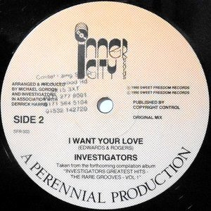 12 / INVESTIGATORS / I WANT YOUR LOVE / BABY I'M YOURS