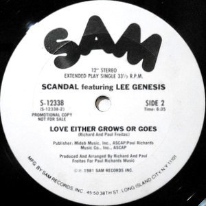 12 / SCANDAL FEATURING LEE GENESIS / LOVE EITHER GROWS OR GOES / I WANNA DO IT