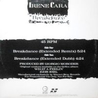 12 / IRENE CARA / BREAKDANCE (EXTENDED REMIX) / (EXTENDED DUBB)