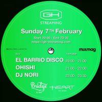 DJ BAR BridgeほかVision、Contactなどのクラブ、DJバーを運営するGlobal Hearts社によるストリーミング・サービスGH streamingで、2月7日20時〜21時の1時間、EL BAR […]