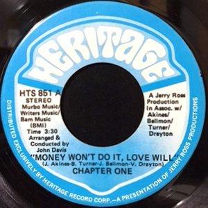 7 / CHAPTER ONE / MONEY WON'T DO IT, LOVE WILL / LOAN SHARK