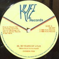 12 / CHOSEN FEW / 25, 30 YEARS OF LOVE