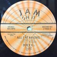 12 / JOEY C. / ALL I'M ASKING /  (FANTASY MIX - INST.)